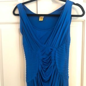 Vibrant blue gown